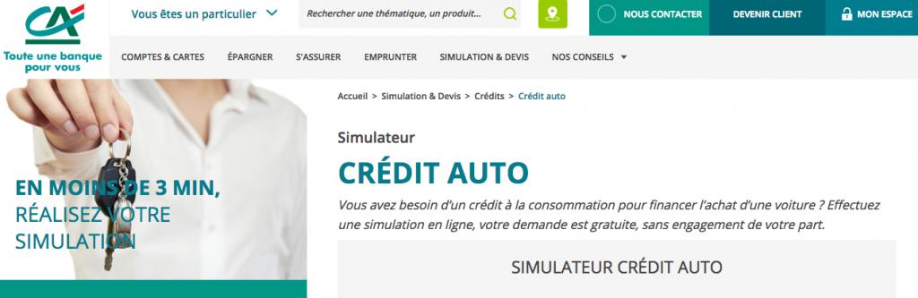 Taux Interet Pret Auto >> Tout Savoir De L Offre De Credit Auto Propose Par Le Credit Agricole