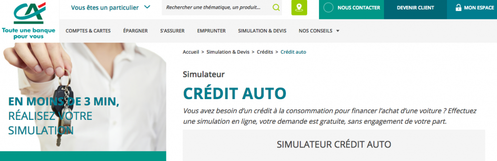 credit auto credit agricole