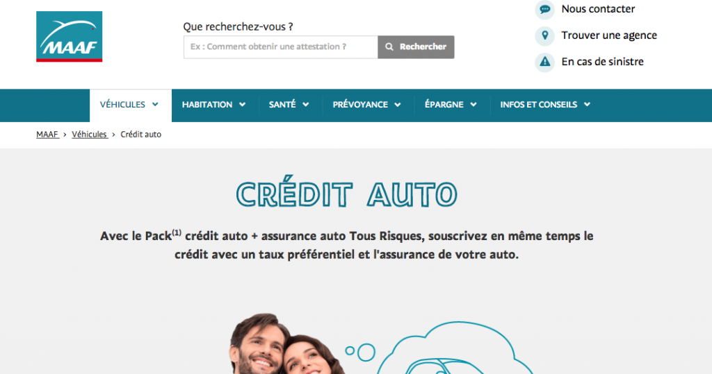 credit auto maaf