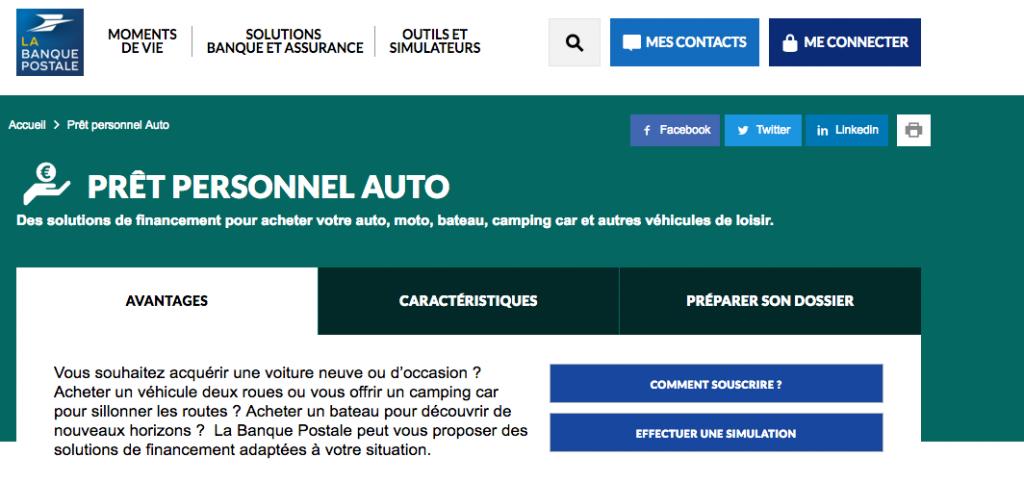 Taux Interet Pret Auto >> Banque Postale Le Credit Auto Qui Vous Convient