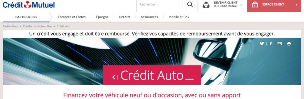 credit auto credit mutuel