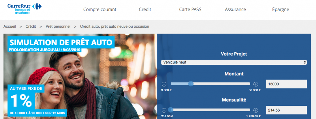 credit auto carrefour banque