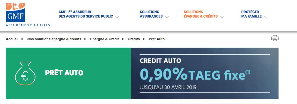 credit auto gmf