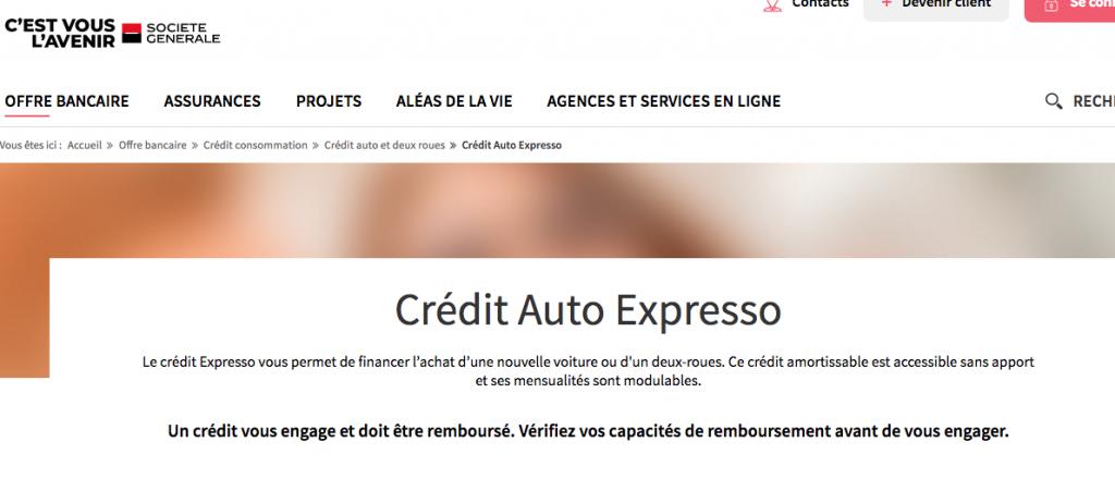 credit auto societe generale