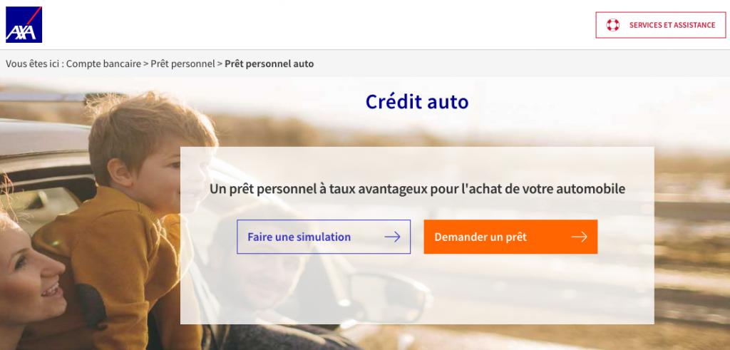 credit auto axa banque